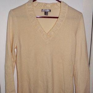 Cream Cashmere Charter Club Sweater Medium